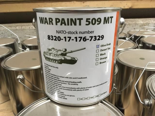 Military vehicle paint several colours